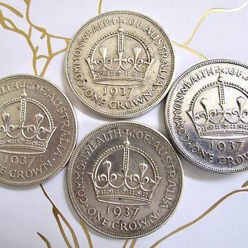 One Crown 1937 Coins by ecoeye