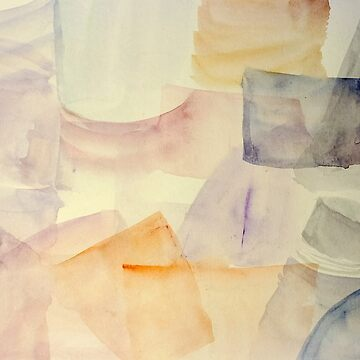 glass bottles abstract. Watercolors on cardboard  by PhotoStock-Isra