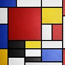 Mondrian in a Leather-Style by Hell-Prints