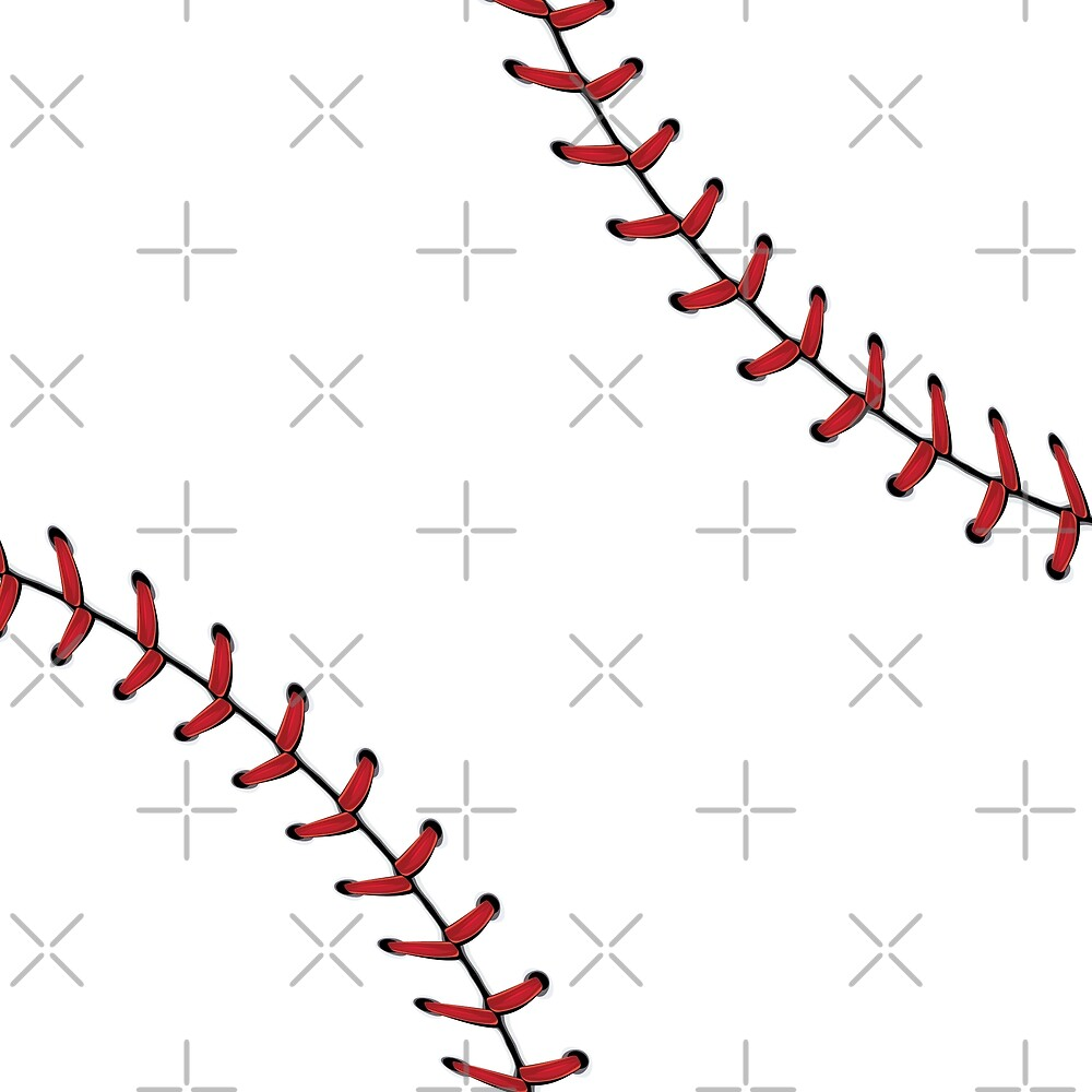 Baseball Lace Background 5 by AnnArtshock