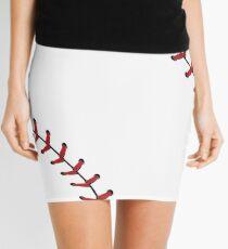 Baseball Lace Background 5 Mini Skirt