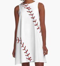 Baseball-Spitze-Hintergrund 5 A-Linien Kleid