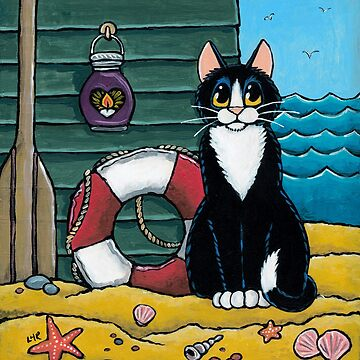 A Cat's Day Out at the Beach by LisaMarieArt