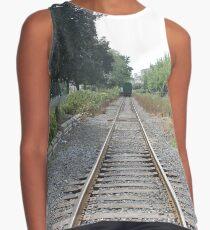 railway, train, railroad, rail, track, travel, transportation, tracks, steel, road, transport, rails, landscape, perspective, line, journey Contrast Tank