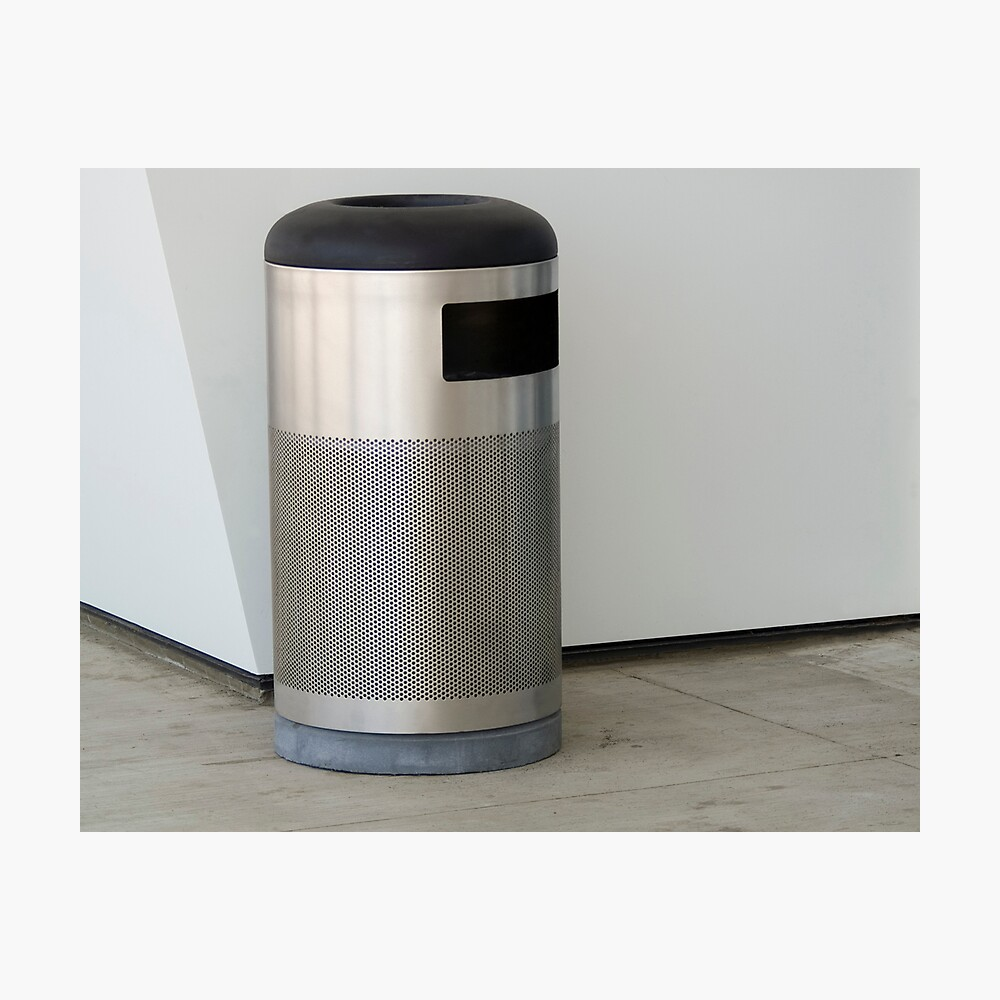 Airport Trash Can Photographic Print