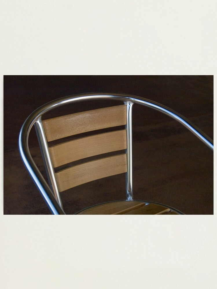 Alternate view of Cafe Chair Photographic Print
