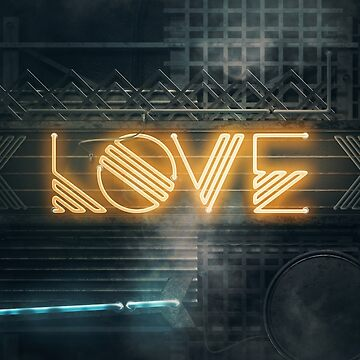 LOVE – Neon Retro by Art-Frankenberg