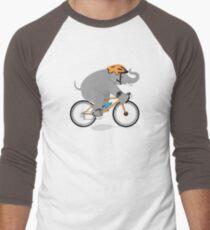 Cycling Elephant Men's Baseball ¾ T-Shirt