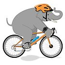 Cycling Elephant by grumpyteds