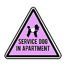 Service Dog in Apartment - Lavender Poodle  by mjfoery