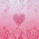 Pink floral heart by Anteia