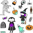 « jeu d'autocollants halloween mignon » par michellelobelia