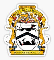 Greyhound Heraldry: Greyt Black Hound Sticker