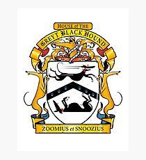 Greyhound Heraldry: Greyt Black Hound Photographic Print