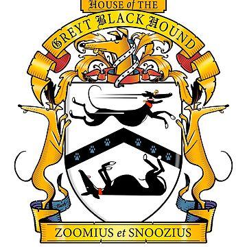 Greyhound Heraldry: Greyt Black Hound by RichSkipworth