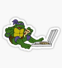 TMNT - Donatello with Pizza Sticker