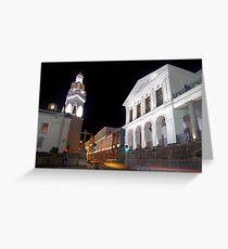 Governments Palace at night Greeting Card