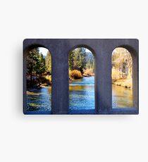 River Through Arches Metal Print