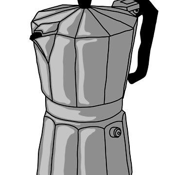 Espresso Pot - Silver by MOREDANKMEMES