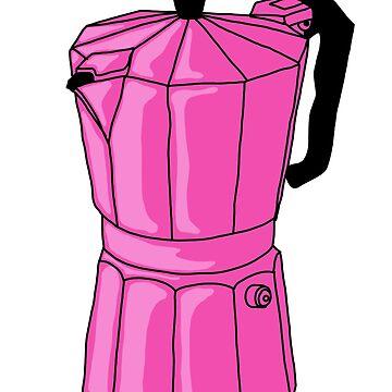 Espresso Pot - Pink by MOREDANKMEMES
