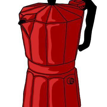 Espresso Pot - Red by MOREDANKMEMES