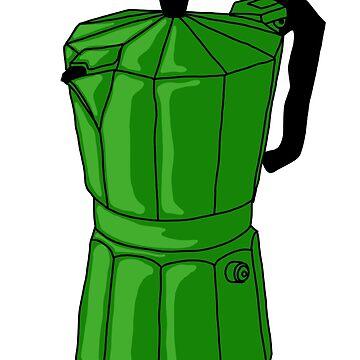 Espresso Pot - Green by MOREDANKMEMES