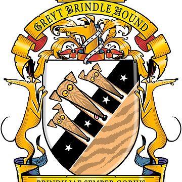 Greyhound Heraldry: Greyt Brindle Hound by RichSkipworth