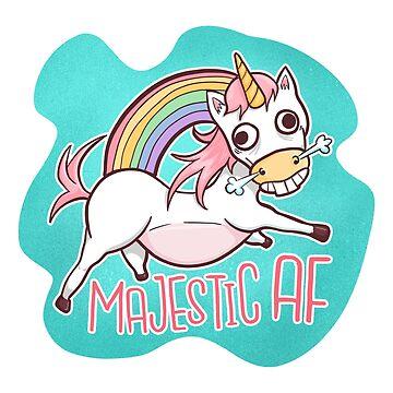 Majestic AF Unicorn by FanaticTee
