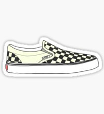 Black Checkered Vans Shoes Sticker