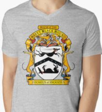 Greyhound Heraldry: Greyt Black Hound Men's V-Neck T-Shirt