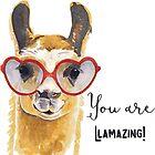 «Usted está Llamazing» de realmatdesign