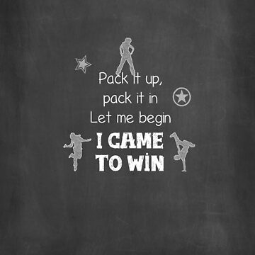 I came to win by linesdesigns