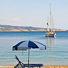 Sailing off Kerasia Beach, Corfu by dunawori