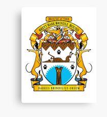 Greyhound Heraldry: Greyt Dark Brindle Hound Canvas Print
