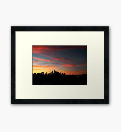 Big Sky Country Evening Framed Print