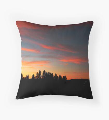 Big Sky Country Evening Throw Pillow