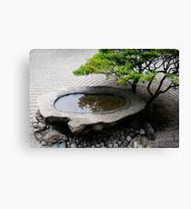 Stone Basin Zen Canvas Print