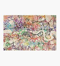 Aquarell Karte von London Fotodruck