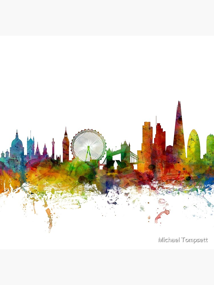 London England Skyline von ArtPrints