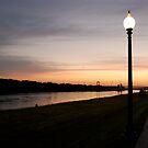 Sunrise Missouri River by Alexander Greenwood