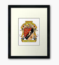 Greyhound Heraldry: Greyt Fawn Hound Framed Print