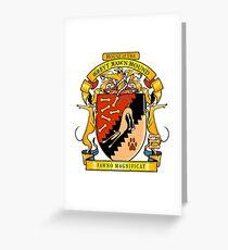 Greyhound Heraldry: Greyt Fawn Hound Greeting Card