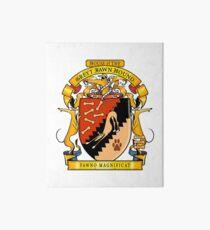 Greyhound Heraldry: Greyt Fawn Hound Art Board