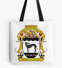 Greyhound Heraldry: Greyt Snowflake Hound Tote Bag
