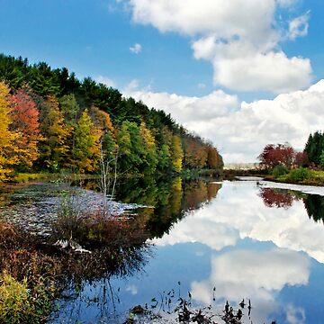 Beautiful Autumn Reflection Landscape by rollosphotos
