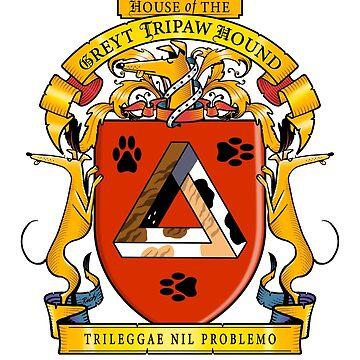 Greyhound Heraldry: Greyt Tripaw Hound by RichSkipworth