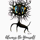 Always Be Yourself black deer art work for promote self esteem by See Foon