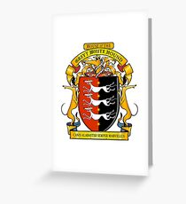 Greyhound Heraldry: Greyt White Hound Greeting Card