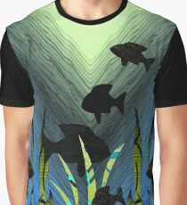 Current Trends Flowing Under Water Graphic T-Shirt