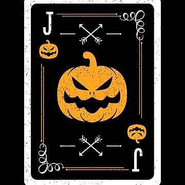 Halloween 2018 Costume Jack Pumpkin Playing Card by propellerhead